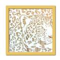 Wood Carving Art LEOPARD/NA