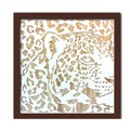 Wood Carving Art LEOPARD/BR