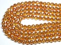 【天然石カットビーズ】ファイヤーオレンジオーラ 64面カット 8mm【天然石 パワーストーン】