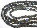 【天然石カットビーズ】ラブラドライト (4A) タンブルカット 約8×12〜8×15mm【天然石 パワーストーン】