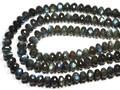 【天然石カットビーズ】ラブラドライト (4A) ボタン型カット 約8×10mm【天然石 パワーストーン】