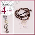 【アクセサリー】水晶紐編みこみブレスレット アクセサリー