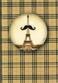 レ ケーク ド ベルトラン The pocket pad ミニノート  Moustache <エッフェル塔×ひげ>