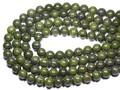 【天然石丸ビーズ】緑金石 10mm (数量限定商品)【天然石 パワーストーン】