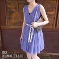 MES DEMOISELLES...Paris(メドモアゼル) IPOLINE DRESS パープル ドレス/ワンピース/シルク