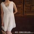 MES DEMOISELLES...Paris(メドモアゼル) IPOLINE DRESS アイボリー ドレス/ワンピース/シルク