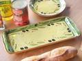 ポルトガル製 陶器 手描き オリーブ柄 食器 長皿 34cm ロング プレート グリーン