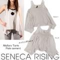 夏最強アイテムが新入荷♪ 【Seneca Rising】 Mallory Tank Pale cement タンク