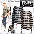 雑誌掲載アイテム♪【Tripp】 Rag Stripe Sweater 3カラー