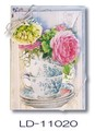 リゾムデザイン グリーティングカード 10枚セット【ローズ】