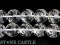 【天然石彫刻ビーズ】水晶 12mm (素彫り) 十二支・午 (馬・うま) (一連売り)【天然石 パワーストーン】