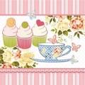 Paw Decor Collection ペーパーナプキン <カップケーキ×フラワー>