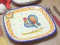 【ポルトガル製】食器 【バルセロスのニワトリ】シリーズ 手描き スクエア プレート