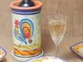 【ポルトガル製】食器 【バルセロスのニワトリ】シリーズ 手描き テラコッタ ワインクーラー