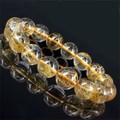 天然石 高品質タイチンルチルクォーツブレスレット!約50g約13mm【FOREST 天然石 パワーストーン】