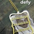 Defy(デフィー) ワードネックレス/ガンジー  デザイン/真鍮/ユニセックス