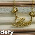 Defy(デフィー) LOVEバードネックレス デザイン/真鍮/ユニセックス