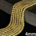 【30%OFF】【天然石 連】ゴールドオーラ水晶一連(φ4-12mm)【天然石 オーラ水晶】
