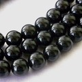 【30%OFF】【天然石 連】★モリオン(黒水晶) 一連真っ黒【天然石 モリオン】
