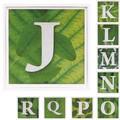アルファベットJ~R アートフレーム【ミニアート】フォント/文字柄<木製フレーム>