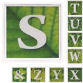 アルファベットS~Z-& アートフレーム【ミニアート】フォント/文字柄<木製フレーム>