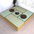 高床式ユニット畳セット(1畳タイプ4本+半畳タイプ1本) 収納 ナチュラル 日本製