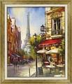 ブレント ヘイトン アートフレーム【パリの街並】エッフェル塔/フランス<樹脂フレーム>
