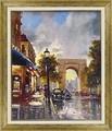 ブレント ヘイトン アートフレーム【パリの街並】凱旋門/フランス<樹脂フレーム>