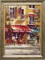 ブレント ヘイトン アートフレーム【イタリアの街並】カフェ/イタリア<樹脂フレーム>