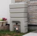 雨水を家庭菜園に有効活用!雨水・中水タンク140L<ガーデニング・省エネ・eco・園芸・節水効果>