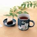 便利!蓋付きマグです。■【フタ付きマグカップ】泉文山ブルー花蓋付マグ