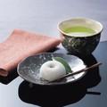 ■【一服碗】泉文山黒白花皿付一服碗