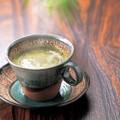 ■【カップ&ソーサー】泉工芸白伊賀フラワーコーヒー碗皿