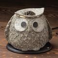 お部屋の消臭に!■常滑焼【茶香炉】山房ふくろう電気式茶香炉