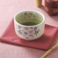 ■【抹茶碗】丸好粉引万葉桜抹茶碗