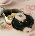 ■【蓋物】松山織部椿モッコ蓋物