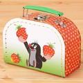 【クルテク】スーツケース イチゴ柄(XS)