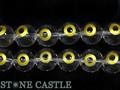 【天然石彫刻ビーズ】水晶 12mm (金彫り) 蛇の目 (一連売り) (数量限定商品)【天然石 パワーストーン】