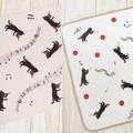 【素敵なハーモニー】楽器と黒猫 ディッシュクロス
