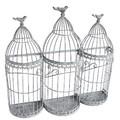 【ガーデン用品・プランター】大好きアニマル! Gray wash 3ゲージWallプランター +小鳥
