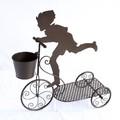 【ガーデン用品・プランター】ユーモア抜群! Boy & Cart プランター
