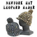 ★秋冬♪NEWYORK HAT  #4681 LEOPARD RADAR  12757