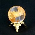 【30%OFF】【天然石 インテリア】置物★手彫り[金龍]水晶玉φ24mmUP・台座【天然石 水晶】