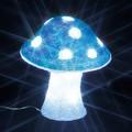 抜群の存在感と輝き!LEDクリスタルモチーフ キノコ(中)白・青<クリスマス・イルミネーション>