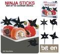 『NINJA STICKS』シュリケン型パーティーピック(12本セット)