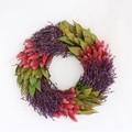 <<クリスマスリース>>★■X'mas/  Lavender&Leaves Wreath