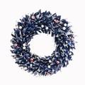 <<クリスマスリース>>★■X'mas/  Leaves & Berry Wreath M (Blue)