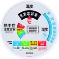 【屋外設置ができる】環境管理温・湿度計「熱中症注意」