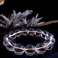 【30%OFF】【天然石ブレスレット】<ゴールドイン>最高級(2A級)水晶(12mm)ブレス【天然石 天然水晶】