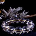 【30%OFF】【天然石ブレスレット】<ゴールドイン>最高級(2A級)水晶(14mm)ブレス【天然石 天然水晶】